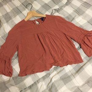 Aeropostale cropped long sleeve shirt